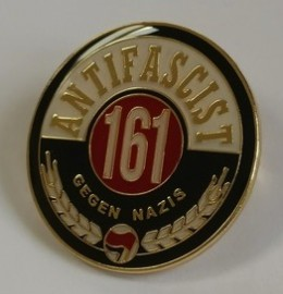 Antifascist 161: Gegen Nazis Enamel Badge