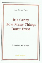 It's Crazy How Many Things Don't Exist - Selected Writings