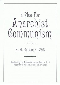 A Plea For Anarchist Communism