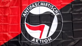 Antifaschistische Aktion Flag - Red and Black
