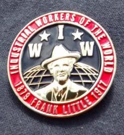 Frank Little / IWW enamel badge