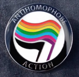 Antihomophobe Action badge