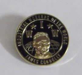 James Connolly / IWW enamel badge