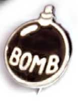 Enamel bomb badge